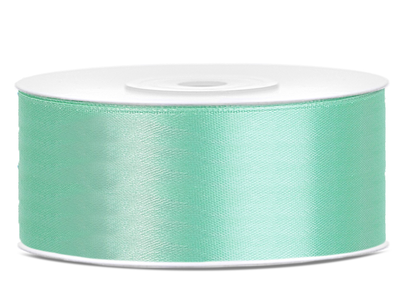 Saténová stuha tiffany blue - mäta 25mm 25m