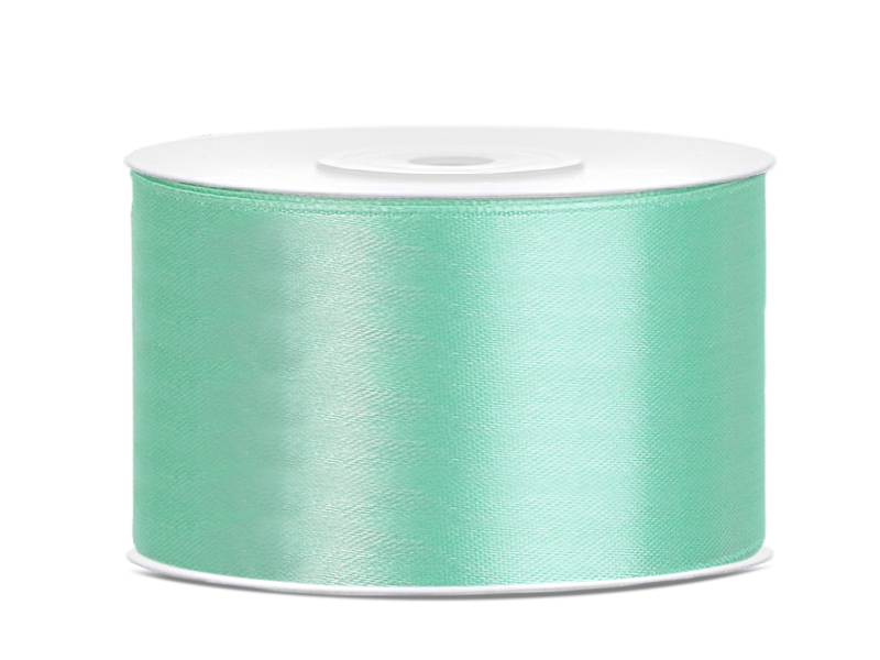 Saténová stuha tiffany blue - mäta 38mm 25m